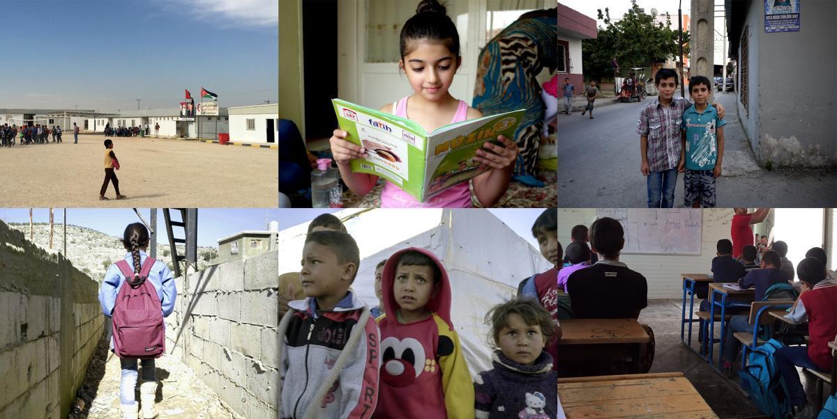 土耳其、黎巴嫩和约旦的叙利亚儿童与学校。 © 2017 人权观察