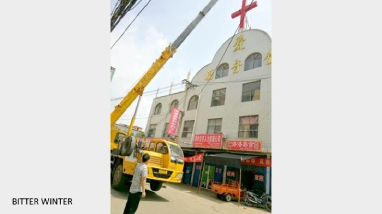 71座政府管控教堂的十字架遭强拆