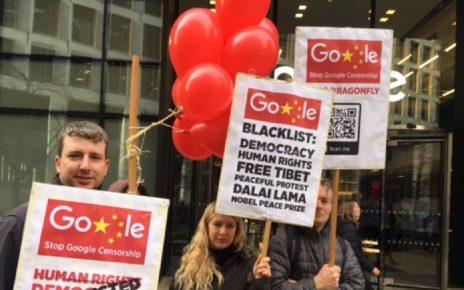人权团体抗议谷歌协助中国政府监视网民