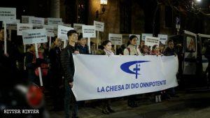 全能神教会海外流亡信徒呼吁意大利政府授予庇护