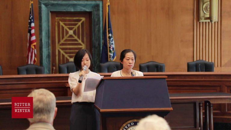 全能神教会成员邹德美在华盛顿部长级会议边会上发言