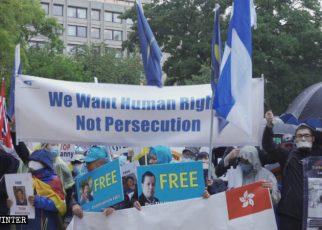 布鲁塞尔抗议活动现场