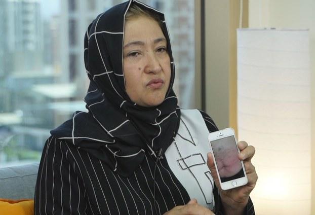 哈萨克籍维吾尔人古力巴哈女士(Gulbahar Jalilova)25日在台北接受自由亚洲电台专访,控诉在集中营465天被喂药。