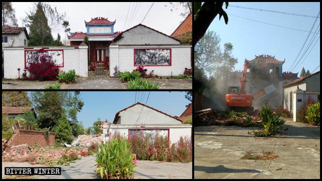 天府庙被拆前后