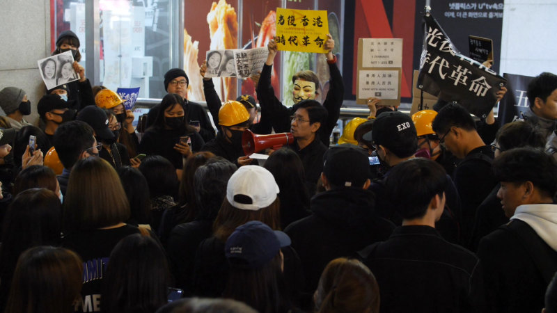 韩国全能神教会基督徒金尚文在集会中发言