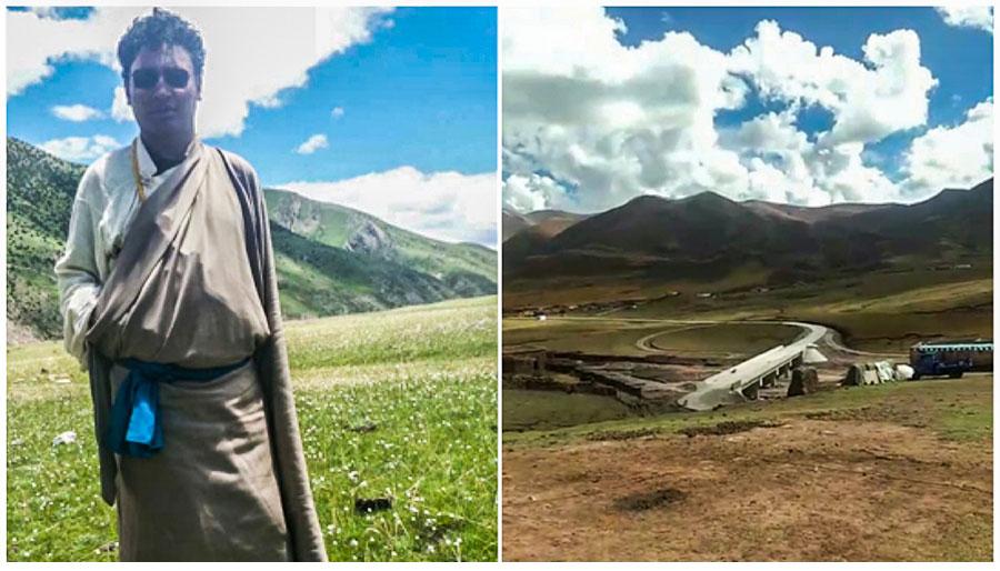 """被捕藏人拉达及其家乡""""那曲县达前乡擦勒村"""""""