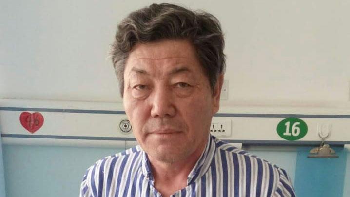 从新疆教育营获释的努尔兰.库合都伯。