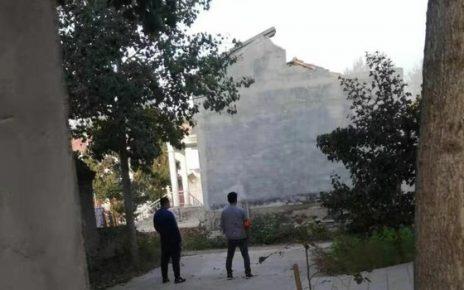 河南原阳县官方认可的教堂被强拆。